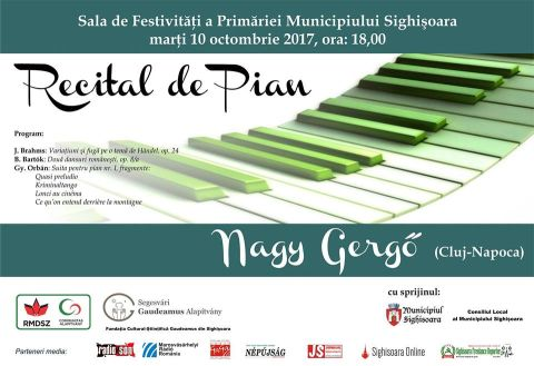 Recital de pian in Sighisoara